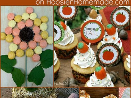20+ Fall Cupcakes :: on HoosierHomemade.com