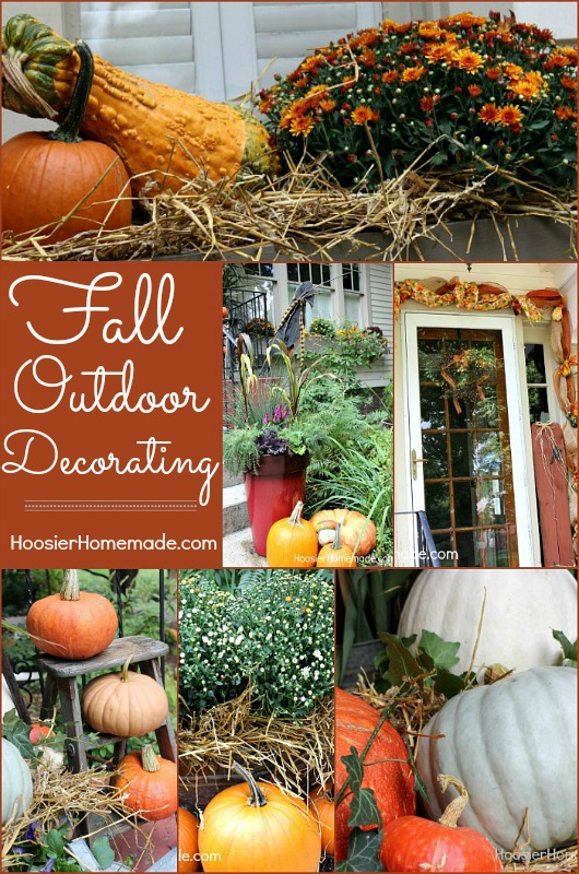 Outdoor Decorating For Fall Hoosier Homemade