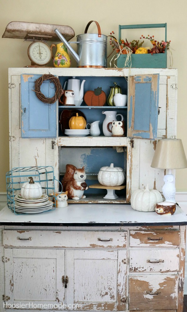 How To Decorate A Short Narrow Living Room: Fall Decorating Ideas: Hoosier Cabinet