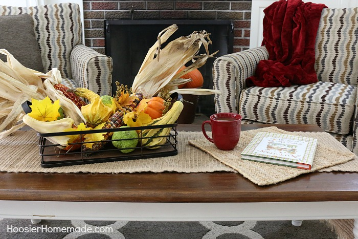 Fall Decorating on a budget - bring the outdoors in