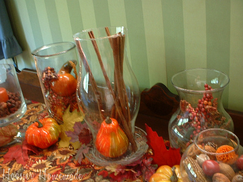 Fall Decorating With Hurricane Vases Hoosier Homemade