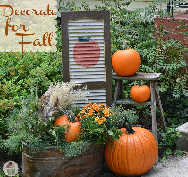 Last ... - Fall Outdoor Decorating: DIY Painted Shutter - Hoosier Homemade