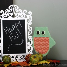 Simple Fall Decorating | on HoosierHomemade.com