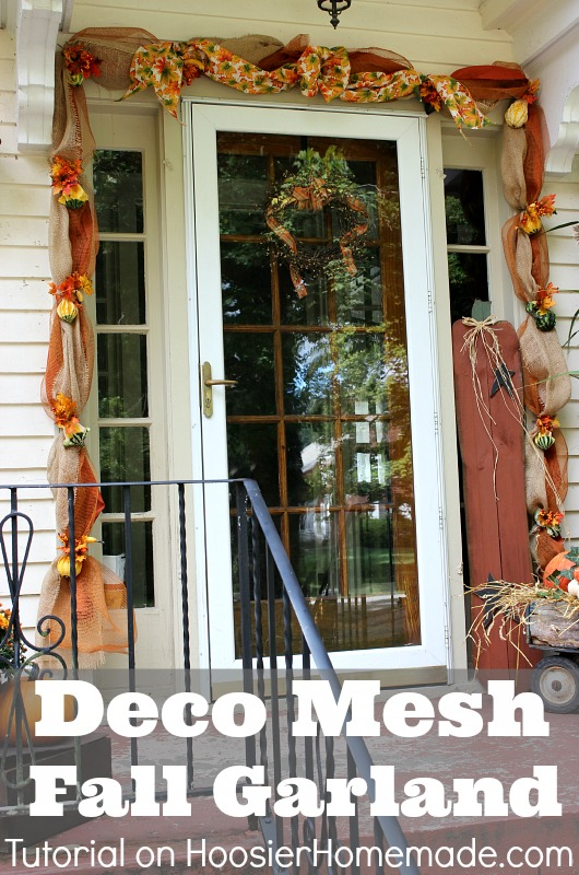 Deco Mesh Fall Garland Tutorial Hoosier Homemade