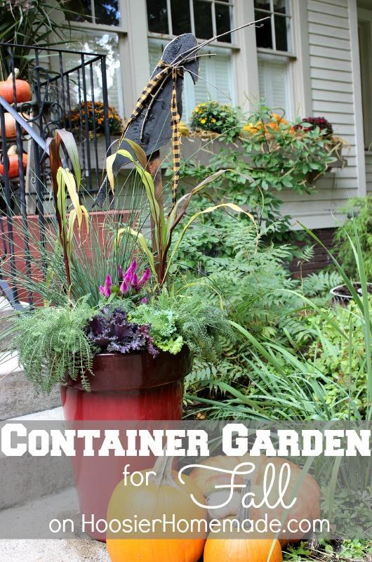 Fall Container Garden :: Instructions on HoosierHomemade.com