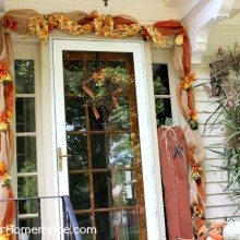 Deco Mesh Fall Garland Tutorial on HoosierHomemade.com
