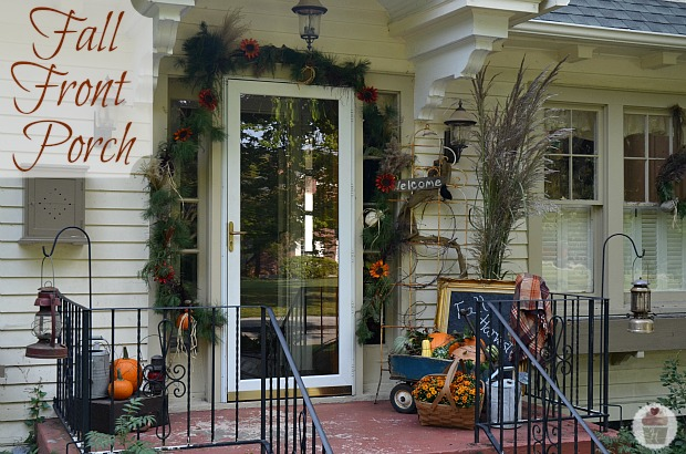 Fall Front Porch Decorating Hoosier Homemade