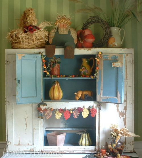 Fall Decorating For The Hoosier Cabinet