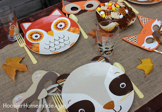 Fall Party for Kids with Woodland Creature Mask Tutorial :: Available on HoosierHomemade.com