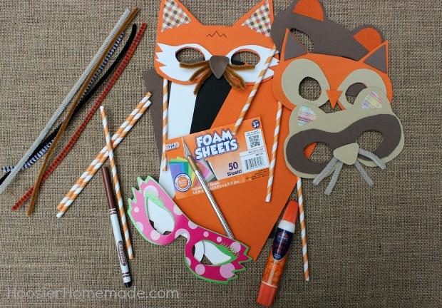 How to make Woodland Creature Masks :: Tutorial on HoosierHomemade.com