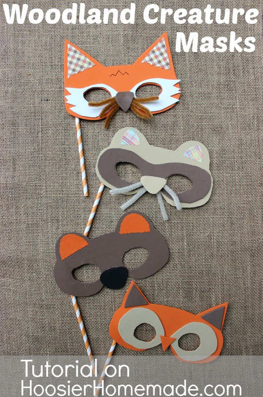 woodland creature party masks diy