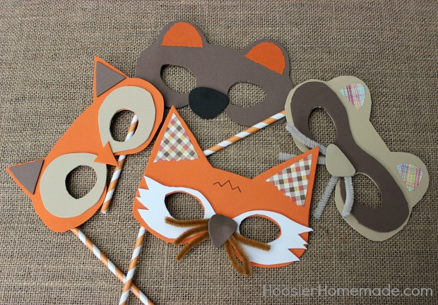 How to make Woodland Creature Masks :: Tutorial on HoosierHomemade.com