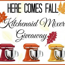 Fall KitchenAid Mixer Giveaway