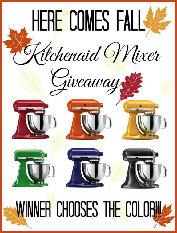 Fall KitchenAid Mixer Giveaway | Enter to win on HoosierHomemade.com