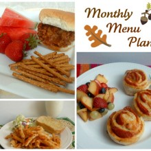 Fall Monthly Menu Plan collage