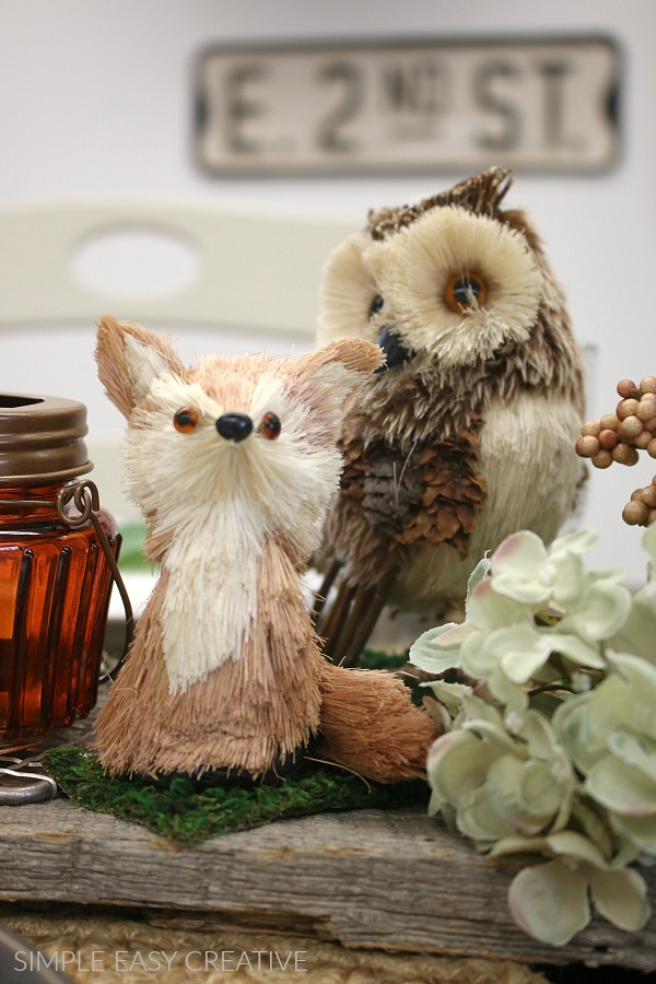 Owl and Fox on Fall Table