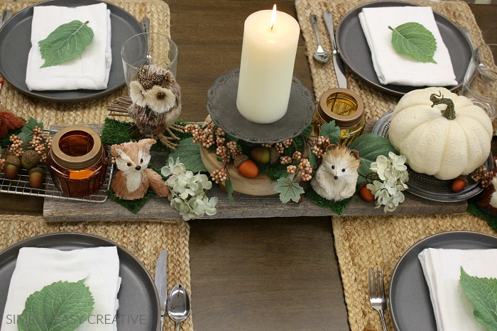 Decorations for Fall Table
