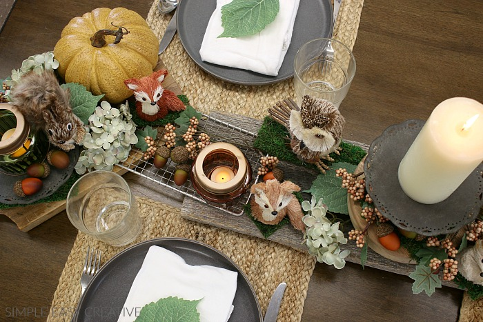 Using Cutting Boards for Table Decorations