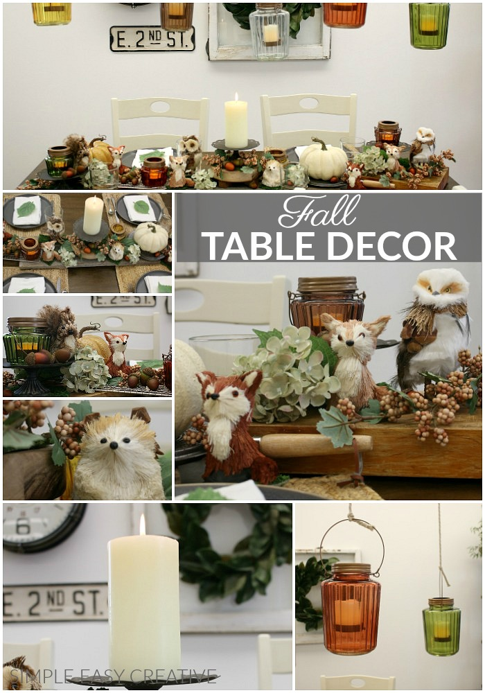 Decorate your Table for Fall