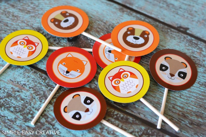 Fall Cupcake Toppers Printables