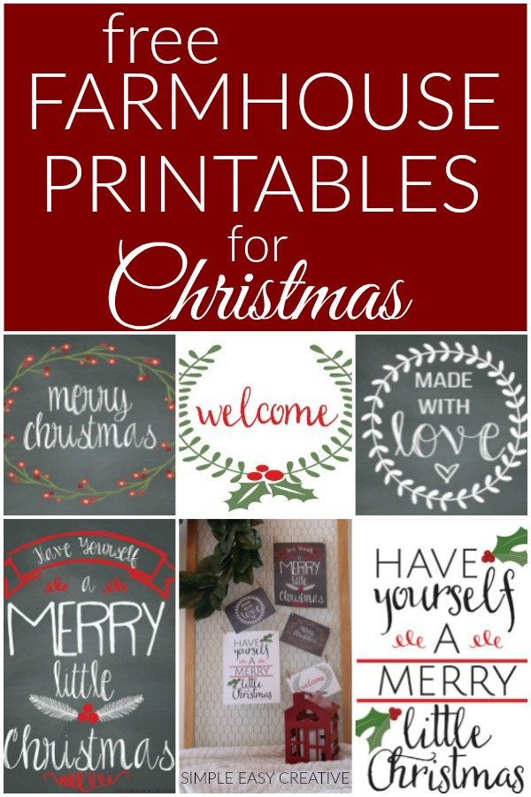 Farmhouse Printables for Christmas
