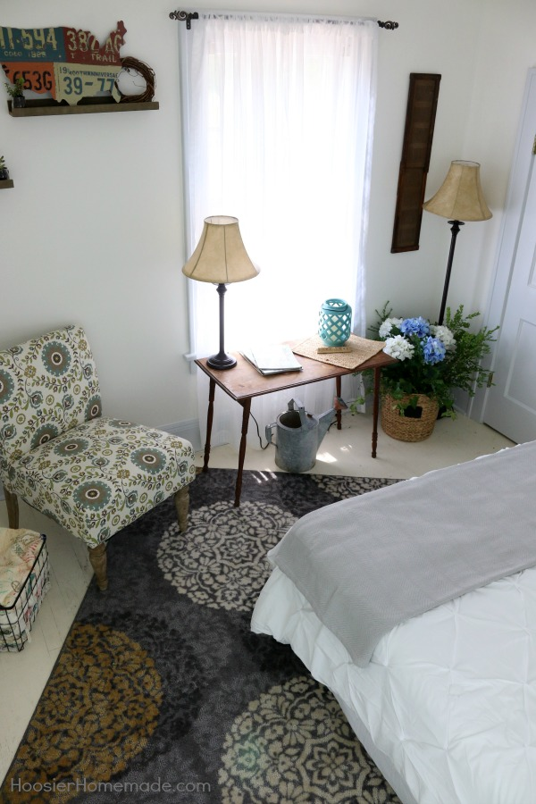 Farmhouse decor bedroom hoosier homemade for Farmhouse style bedroom