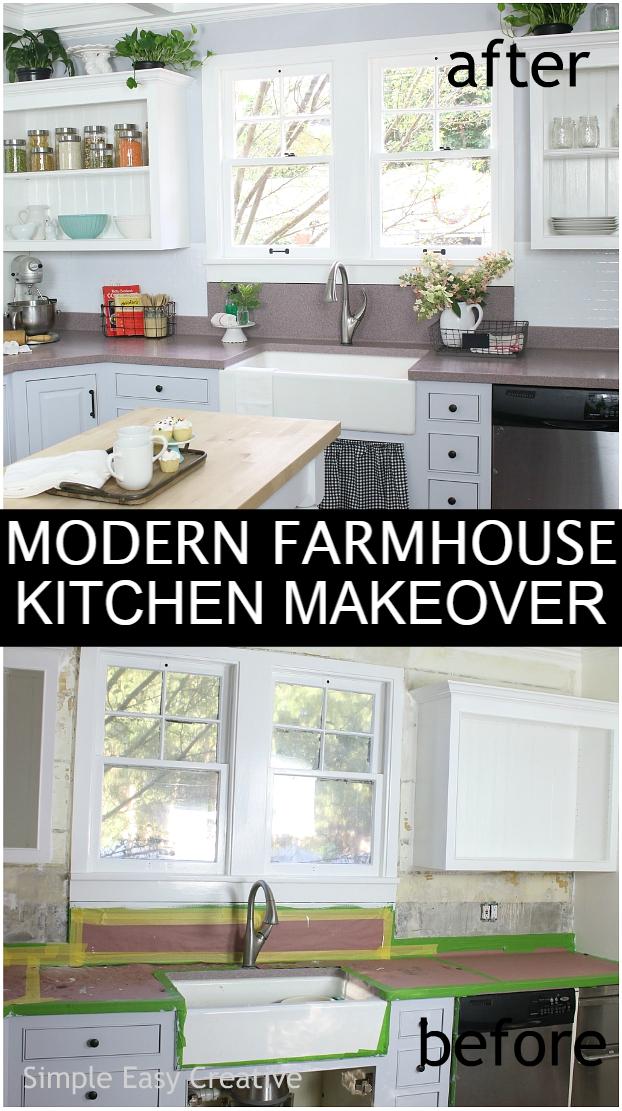 Modern Farmhouse Kitchen Makeover Hoosier Homemade