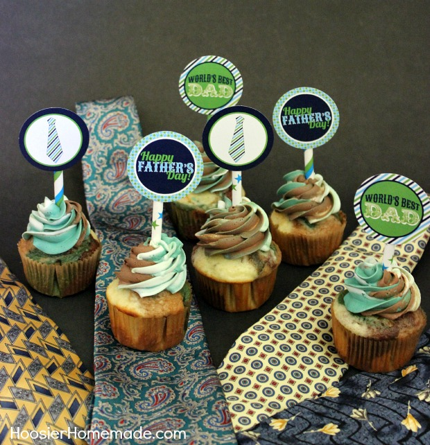 Father's Day Cupcake Toppers.ZL