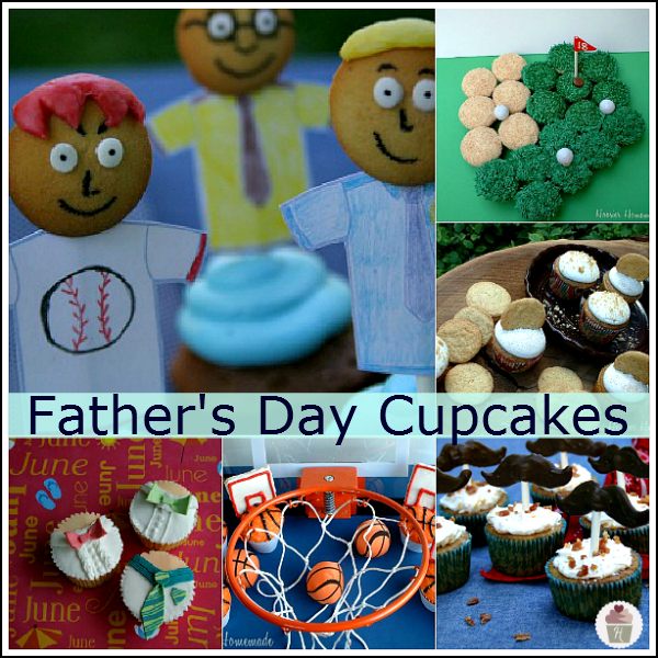 father 39 s day cupcakes dessert for dad hoosier homemade. Black Bedroom Furniture Sets. Home Design Ideas