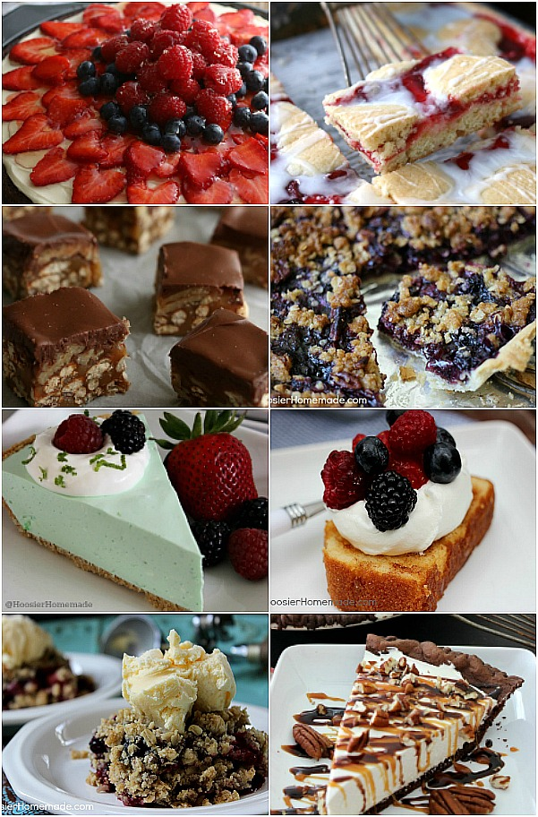 It's time to whip up Dad a special Dessert for Father's Day! Whether he likes Pies, Cakes, Cobblers or Cookies, there is sure to be one or more of these Father's Day Desserts that he will love.