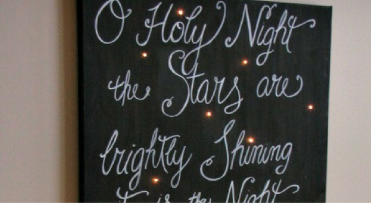 Lighted Canvas Art – 100 Days of Homemade Holiday Inspiration