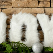 DIY Fur Christmas Letters- 100 Days of Homemade Holiday Inspiration