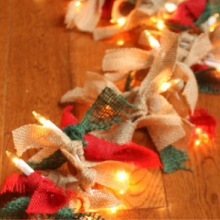 Lighted Burlap Garland – 100 Days of Homemade Holiday Inspiration