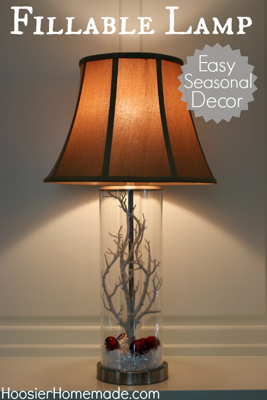 Fillable Lamp : Easy Seasonal Decor | HoosierHomemade.com