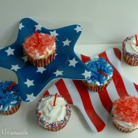 Firecracker Cupcakes for the 4th of July