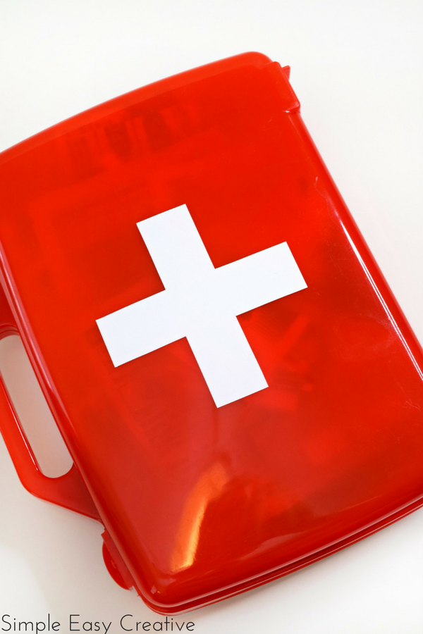 Create this easy first aid kit to keep your necessary supplies handy!