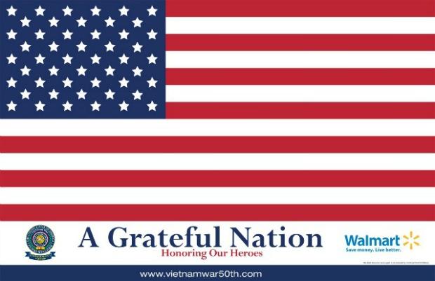 Flag of Thanks for Veterans at Walmart