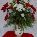 How to make a Fresh Floral Arrangement for the Holidays :: Instructions on HoosierHomemade.com
