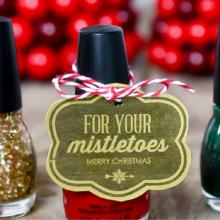 Nail Polish Gift Printable – 100 Days of Homemade Holiday Inspiration