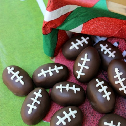 Football Shaped Oreo Truffles