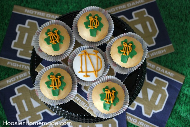 Notre Dame Cupcakes Football Party Food Hoosier Homemade
