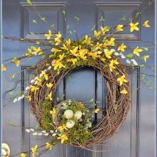Forsythia Spring Wreath.220