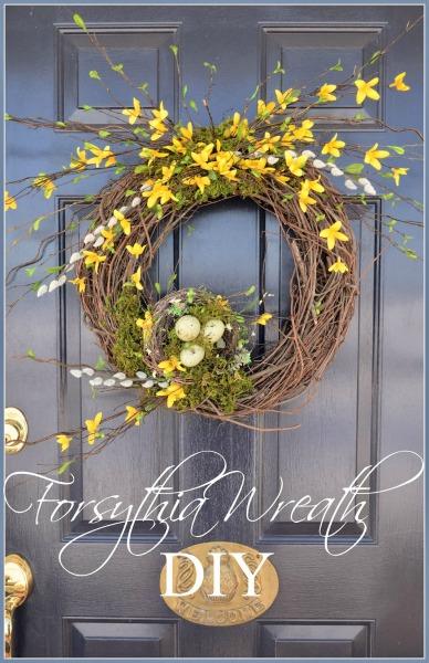 Forsythia Spring Wreath