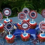Fourth of July- Cupcake Toppers - June 2012