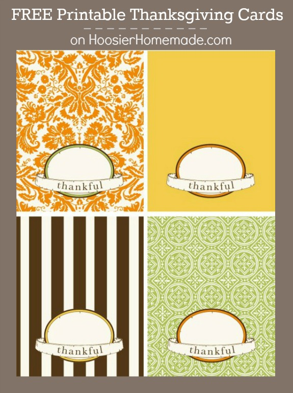 Add that special touch to your Thanksgiving table with these FREE Thanksgiving Cards! Pin to your Thanksgiving Board!