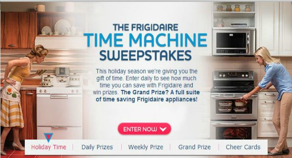 Frigidaire Time Machine Sweepstakes