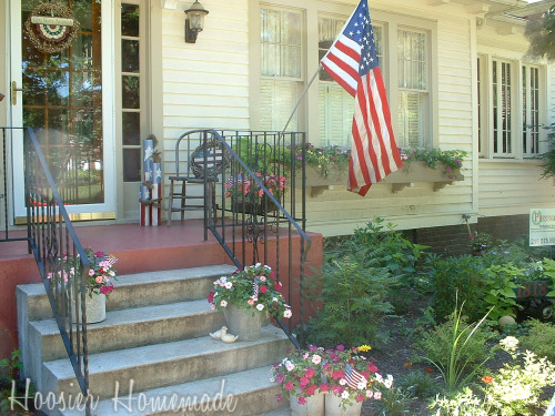 front porch decorating for the 4th of july hoosier homemade