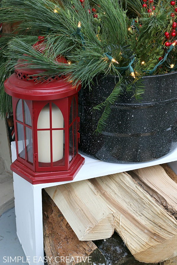 Red Lantern for Porch Decor