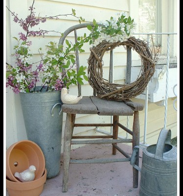 . Frugal Decorating with Antique Chairs   Hoosier Homemade