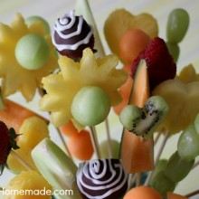 How to Make Fruit Bouquet | Instructions with Video on HoosierHomemade.com